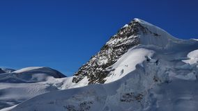 Mt Rottalhorn visto dal Jungfraujoch Fotografia Stock Libera da Diritti