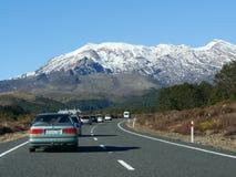 Mt Ruapehu旅客 图库摄影