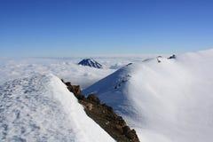 Mt. Ruapehu火山口外缘 免版税库存图片