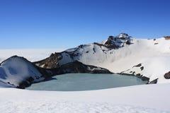 Mt. Ruapehu Crater湖 免版税库存图片