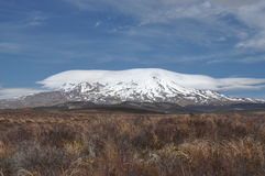 Mt Ruapehu from Desert road Stock Photos