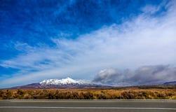 MT Ruapehu, Nieuw Zeeland Stock Foto