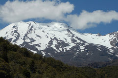 Mt Ruapehu (volcano). This was taken at the alpine level of this 2,700m active volcano Stock Images