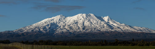 Mt. Ruapehu in winter Royalty Free Stock Image