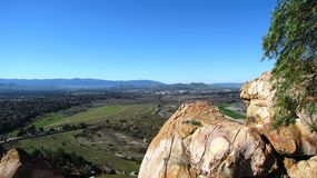 Mt. Rubidoux View. View of hills, rocks and fields, California Stock Photo