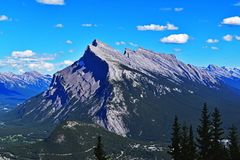 Mt Rundle Obrazy Royalty Free