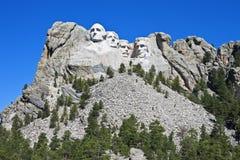 Mt Rushmore在早晨阳光下 免版税图库摄影