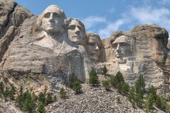 Mt Rushmore是在南达科他美国州的国家历史文物  库存照片