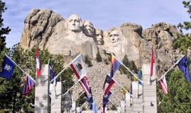 Mt Rushmore看法  免版税库存图片