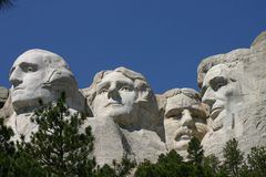 Mt. Rushmore. In August with a beautiful blue sky in the background Royalty Free Stock Photos