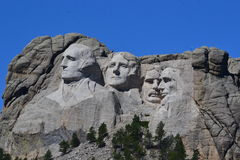 Mt Rushmore-Abschluss oben lizenzfreies stockfoto