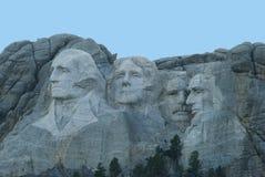 Mt Rushmore al crepuscolo Fotografia Stock Libera da Diritti