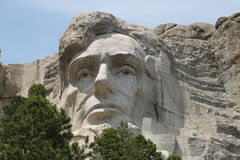Mt. Rushmore Close Up Lincoln Stock Image