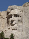Mt. rushmore Lincoln. Close-up of the Lincoln memorial at Mt. Rushmore Stock Photography