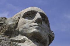 Mt Rushmore na słonecznym dniu Z niebieskim niebem Obraz Stock