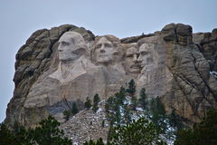 Mt Rushmore National Monument. Late fall photograph of the monument Royalty Free Stock Photo