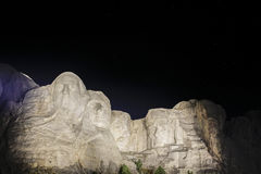 Mt rushmore at night. By the time i was able to get to mt rushmore it was eleven oclock at night so i took a picture with the stars stock images