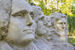Mt. Rushmore sculpture of presidents miniature sculpture Royalty Free Stock Image