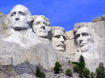 Mt. Rushmore sculpture of presidents South Dakota. The Mount Rushmore National Memorial is a sculpture carved into the granite face of Mount Rushmore near Stock Image
