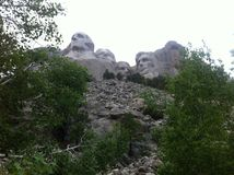 Mt. Rushmore from the trail Royalty Free Stock Photos