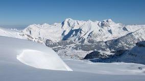 Mt Saentis在冬天 免版税库存图片