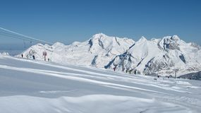 Mt Saentis and ski lift Stock Images