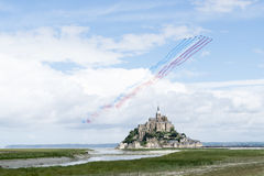 Mt Saint Michel TdF 2016 Stock Photo