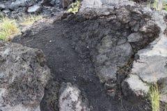从Mt Sakurajim的熔岩 库存图片
