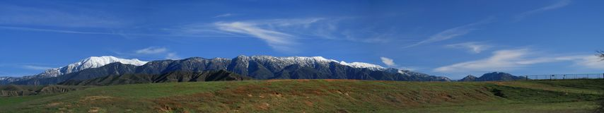 Mt. San Gorgonio panorama from the southeast Royalty Free Stock Images