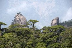 Mount Sanqing, Sanqingshan, Jiangxi China Royalty Free Stock Images