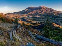 Mt Santo Helen Sunset imágenes de archivo libres de regalías