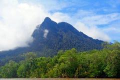 Mt Santubong Borneo, Malaysia Arkivfoton