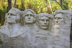 Mt Scultura di Rushmore della scultura della miniatura di presidenti Fotografia Stock