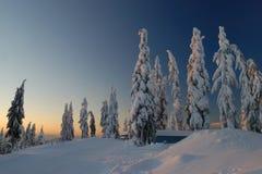 Mt. seymour am Sonnenaufgang lizenzfreie stockfotografie