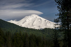 Mt Shasta, Califórnia fotografia de stock