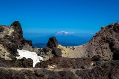 Mt Shasta da cratera de Lassen imagem de stock royalty free