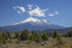 Mt. Shasta. A massive volcano, in northern California Stock Photos