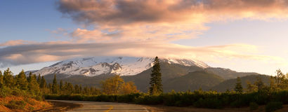 Mt. Shasta panorama Royalty Free Stock Photo