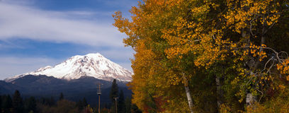 Mt Shasta Rural Fall Color California Nature Outdoor Royalty Free Stock Photo