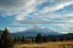 Mt. Shasta. View of  snow covered Mt. Shasta Stock Photos