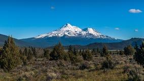 Mt Shasta volcano royalty free stock photo
