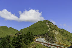 Mt. Shimen and Central Mountains in Taiwan Royalty Free Stock Images