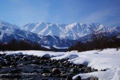 Mt. Shiroumadake, Nagano Giappone Immagine Stock