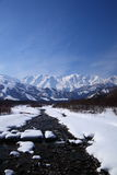 Mt. Shiroumadake, Nagano Japan Stock Foto's