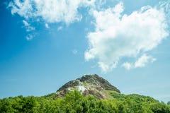 Mt.Showa. View of Mt.Showa Shinzan, The great alive volcano in Hokkaido Japan Royalty Free Stock Images