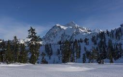 Mt Shuksan在冬天 免版税库存照片