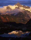 Mt. Shuksan & Glacier. With clouds and a reflection Royalty Free Stock Image