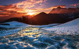 Mt.Shuksan Royalty Free Stock Photography