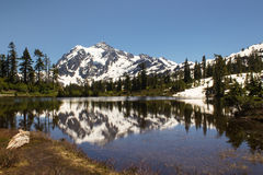 Mt.Shuksan, North Cascade National Park in Washington Stock Photos