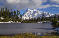 Mt Shuksan in Snow Stock Photography